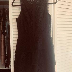 BCBGMaxAzria Dresses - BCBG Black Lace Tier Dress